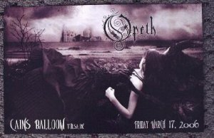 OPETH rare promotional concert poster Collectible