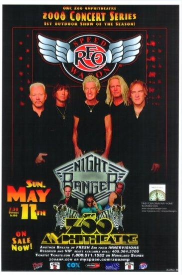 REO SPEEDWAGON rare KANSAS concert poster collectible