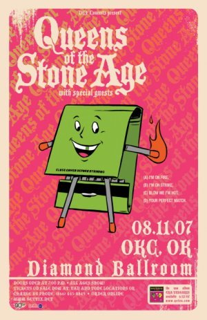 QUEENS OF THE STONE AGE rare promotional CONCERT poster collectible