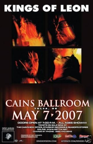 KINGS OF LEON promotional Concert poster collectible