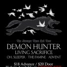 "Demon Hunter with Living Sacrifice oh sleeper and Advent 11"" x 17"" Concert Poster"