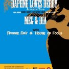 Daphne Loves Derby with Meg & Dia and Ronnie Day & House of Fools Concert Poster