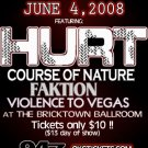"Hurt with Course of Nature & Faktion & Violence to Vegas 11"" x 17"" Concert Poster"