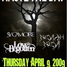 """Haste The Day with Sycamore & Love Begotten 11"""" x 17"""" Concert Poster"""