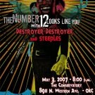 "The Number 12 Looks Like You with Destroyer Destroyer & Steeples 11"" x 15"" Concert Poster"