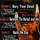 "Bury Your Dead with Haste The Day 11"" x 17"" Concert Poster"