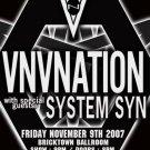 "VNV Nation with System SYN 11"" x 17"" Concert Poster"