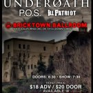 "Underoath with P.O.S. & Iu Patriot 11"" x 17"" Concert Poster"