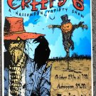 "Creeps 6 Halloween promotional Thom Self 13"" x 19"" Concert Poster"