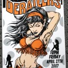 "The Derailers promotional Thom Self 13"" x 19"" Concert Poster"