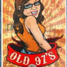 "Old 97's with Hayes Carll promotional Thom Self 13"" x 19"" Concert Poster"