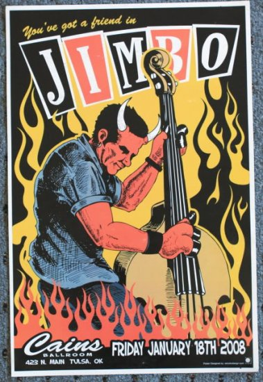 "Reverend Horton Heat promotional Thom Self 13"" x 19"" Concert Poster"
