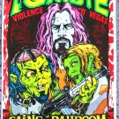 "Rob Zombie with Violence to Vegas promotional Thom Self 13"" x 19"" Concert Poster"