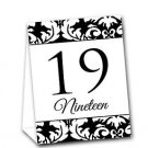 Black White Ready to Use Tent Style Event Table Numbers (1-20) Option
