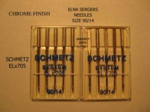 ELNA  SCHMETZ SYSTEM ELx705 90/14 NEEDLES CHROME FINISH