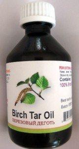 Birch Tar Oil 50 ml - 1.7oz for Skin Problems GMO free