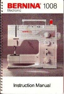 Bernina 1008 Sewing Machine Manual in PDF format on CD