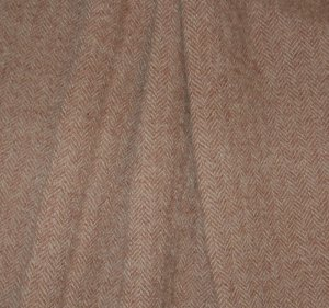 &quot;Mauve Rhymes with Stove&quot; Textured Wool Fabric, 3&quot; Strip for Rug Hooking, Penny Rugs, Quilting