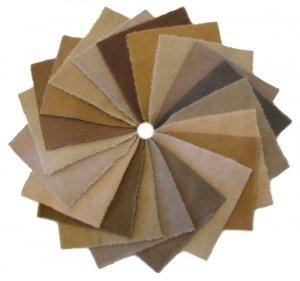 Penny Rug Collection 'Khaki' - Hand Dyed Wool Pack 5