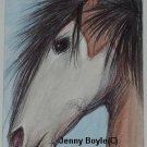 aceo horse art magnet