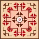 "9126 Southwest Needlepoint Canvas 7"" x 7"""