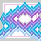 "6112 Geometric Needlepoint Canvas 7"" x 7"""
