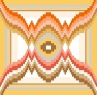 "6108 Geometric Needlepoint Canvas 7"" x 7"""