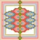 "6111 Geometric Needlepoint Canvas 7"" x 7"""