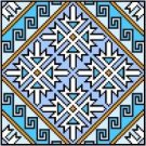 "9132 Geometric Needlepoint Canvas 7"" x 7"""