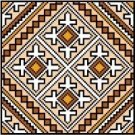 "9134 Geometric Needlepoint Canvas 7"" x 7"""