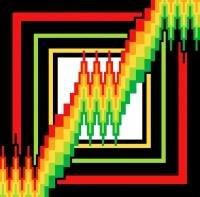 "6105 Geometric Needlepoint Canvas 7"" x 7"""
