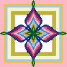 "6109 Geometric Needlepoint Canvas 7"" x 7"""