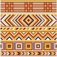 "6097 Geometric Needlepoint Canvas 7"" x 7"""