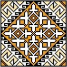 "9121 Geometric Needlepoint Canvas 5"" x 5"""