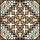 "9121 Geometric Needlepoint Canvas 5"" x 5"""