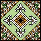"9124 Geometric Needlepoint Canvas 5"" x 5"""