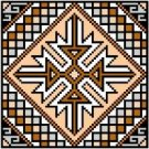 "9123 Geometric Needlepoint Canvas 5"" x 5"""