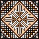 "9123 Geometric Needlepoint Canvas 5"" x 5"""
