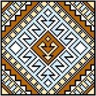 "9122 Geometric Needlepoint Canvas 5"" x 5"""