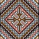 "9114 Geometric Needlepoint Canvas 7"" x 10"""
