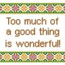 "6079 Sayings Needlepoint Canvas 6"" x 6"""