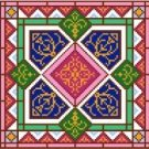 "6947 Geometric Needlepoint Canvas 7"" x 7"""