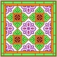 "6012 Geometric Needlepoint Canvas 7"" x 7"""