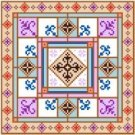 "6011 Geometric Needlepoint Canvas 7"" x 7"""