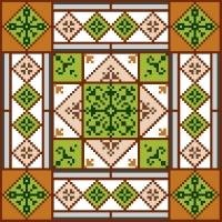 "6939 Geometric Needlepoint Canvas 7"" x 7"""