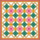 "6932 Geometric Needlepoint Canvas 14"" x 14"""