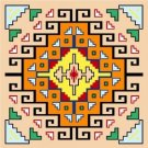 "6739 Southwest Needlepoint Canvas 14"" x 14"""