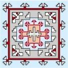 """6738 Southwest Needlepoint Canvas 14"""" x 14"""""""