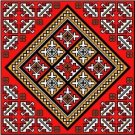"6060 Geometric Needlepoint Canvas 14"" x 14"""