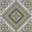 "6054 Geometric Needlepoint Canvas 14"" x 14"""